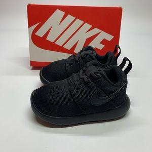 New Nike Roshe One Black Baby/Toddler Shoe black